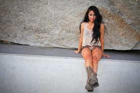 Serina on Location. LACMA
