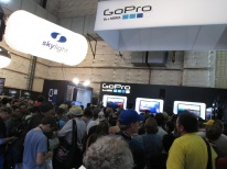 GoPro's Booth was crazy.