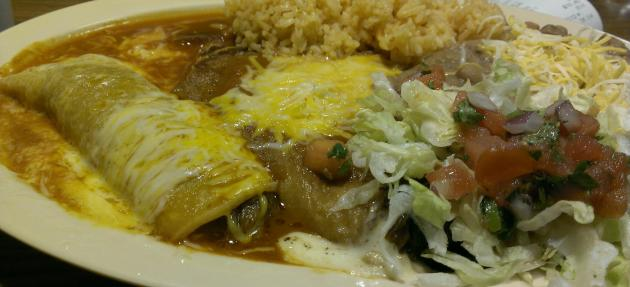 Shredded Beef Enchilada and Chile Relleno.