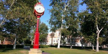 New Clock on Campus.