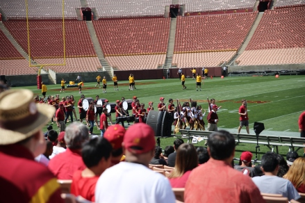 The USC Trojan Marching Band.